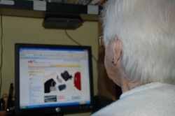 elderly lady at computer